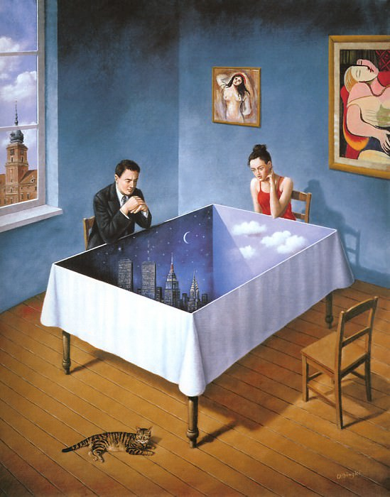 am-Rafal Olbinski Innocence of courteous intentions. Rafal Olbinski