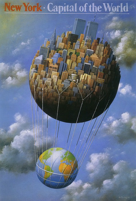 New York-Capital of the World. Rafal Olbinski