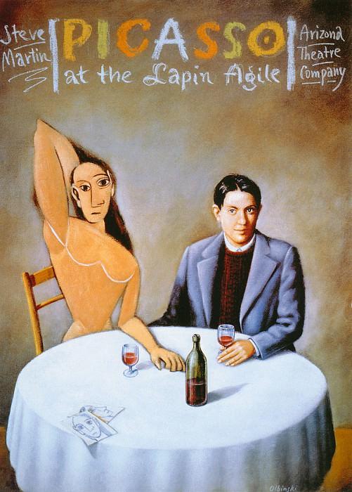Picasso at the Lapin Agile. Rafal Olbinski