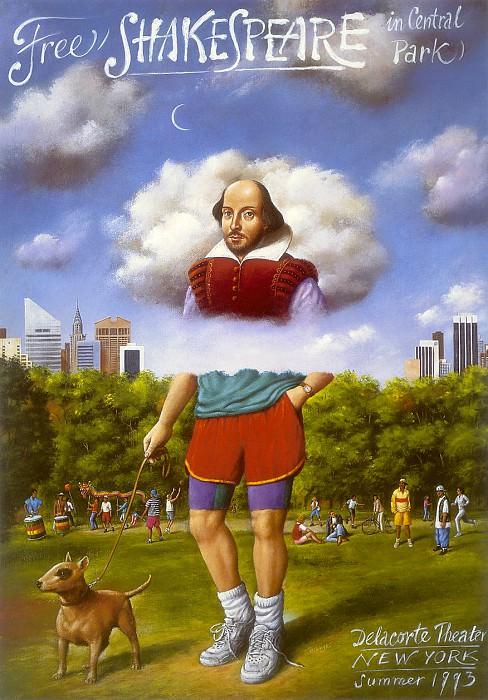 am-Rafal Olbinski Free Shakespeare in Central Park. Rafal Olbinski