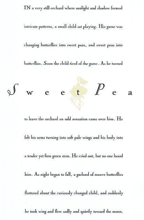 Sweet Pea by John Gruen. Rafal Olbinski