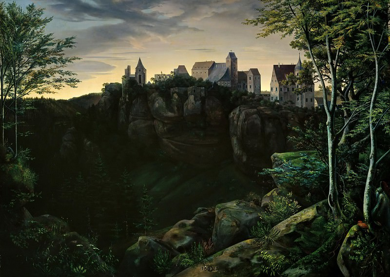 Castle Hohenstein in Saxon Switzerland. Ernst Ferdinand Oehme