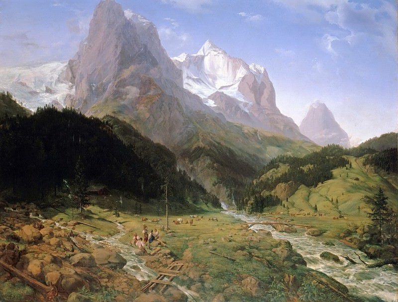 Wetterhorn. Ernst Ferdinand Oehme