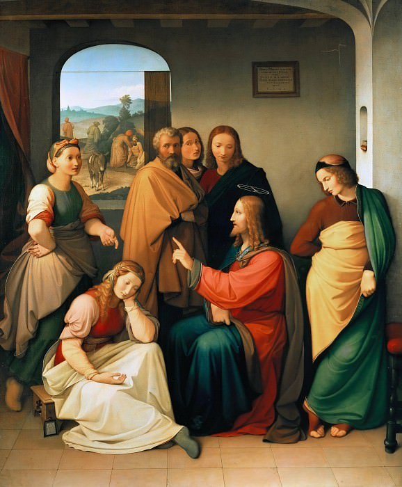 Christ in the House of Mary and Martha. Johann Friedrich Overbeck