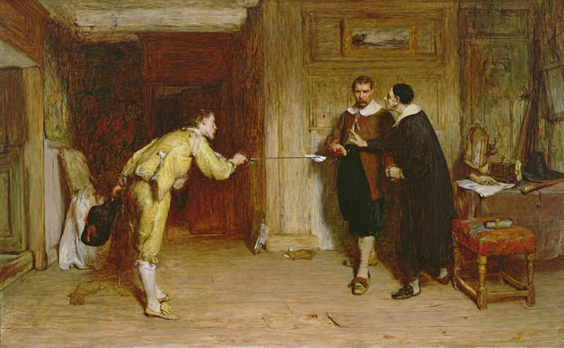 The Challenge: A Puritans Struggle between Honour and Conscience. Sir William Quiller Orchardson