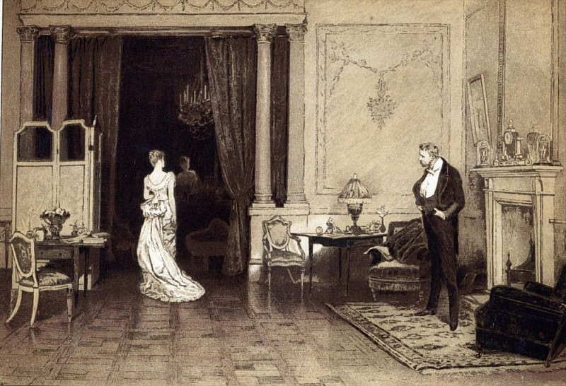 The First Cloud, from Leisure Hour. Sir William Quiller Orchardson