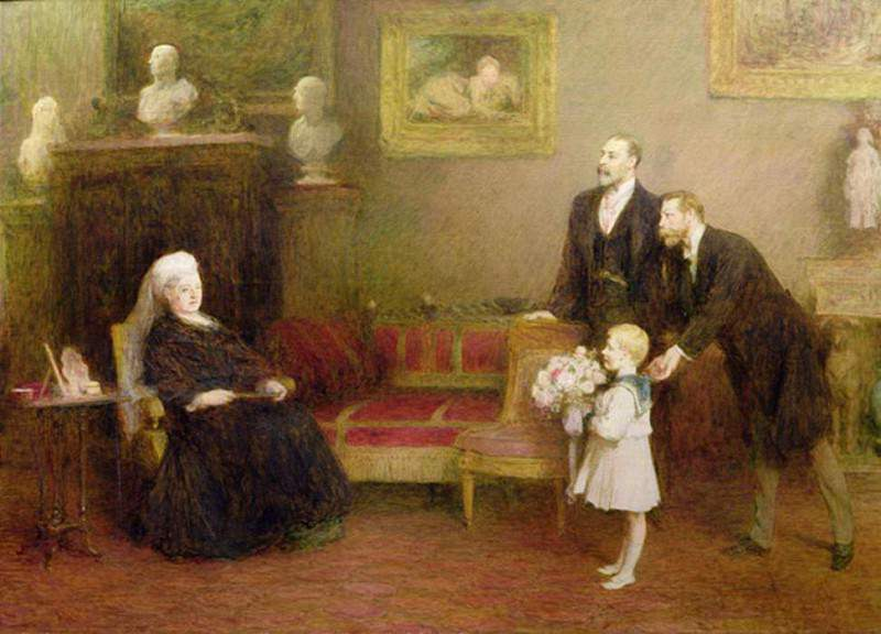 The Four Generations, Windsor Castle, (Queen Victoria (1819-1901), Edward VII (1841-1910). Sir William Quiller Orchardson