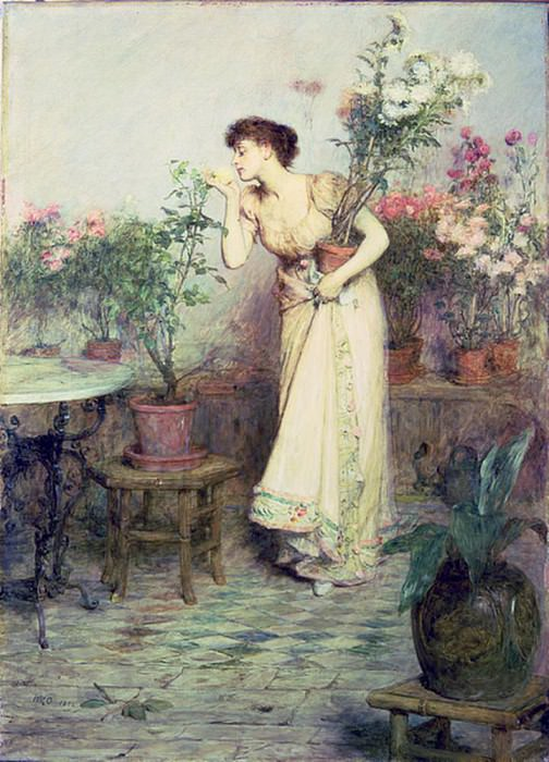 In the Conservatory. Sir William Quiller Orchardson