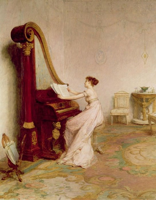 Music when soft voices vibrates in the memory Shelley. Sir William Quiller Orchardson
