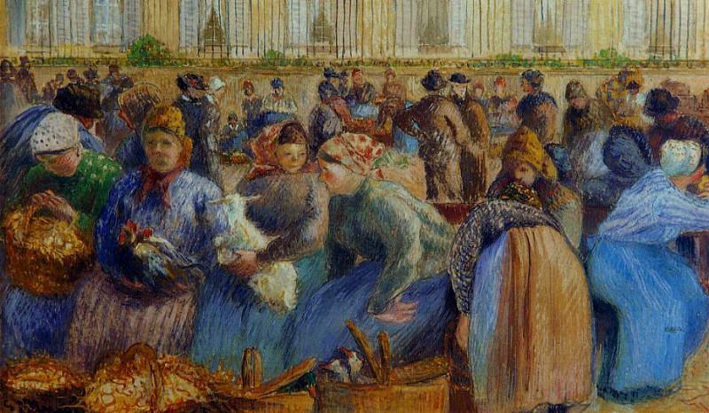 The Egg Market. (1894). Camille Pissarro
