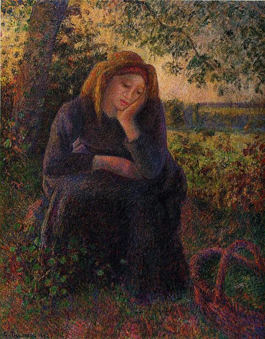 Seated Peasant. (1892). Camille Pissarro