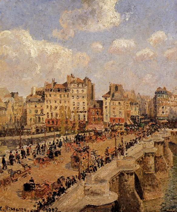 The Pont-Neuf 3. (1902). Camille Pissarro
