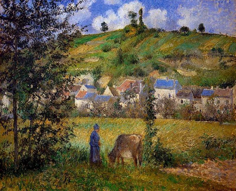 Chaponval Landscape. (1880). Camille Pissarro