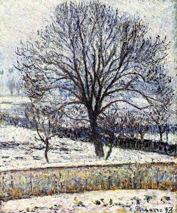 The Thaw, Eragny. (1893). Camille Pissarro