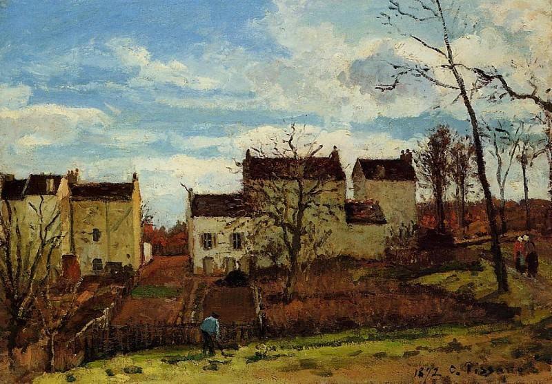 Весна в Понтуазе (1872). Камиль Писсарро