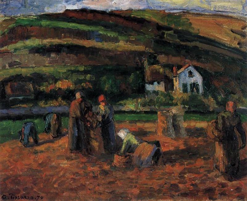Сбор урожая картофеля (1874). Камиль Писсарро