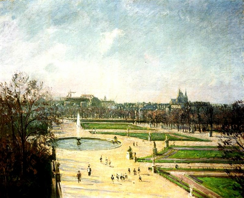 The Tuileries Gardens, Afternoon, Sun. (1900). Camille Pissarro