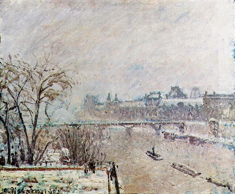 The Seine Viewed from the Pont-Neuf, Winter. (1902). Camille Pissarro