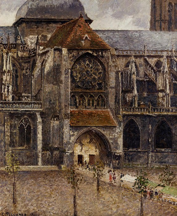Portal from the Abbey Church of Saint-laurent. (1901). Camille Pissarro