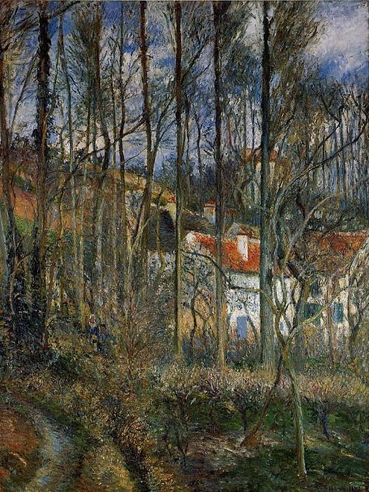 The Cote des Boeurs at lHermitage, near Pontoise. (1877). Camille Pissarro