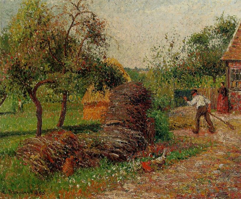 Mother Luciens Yard. (1895). Camille Pissarro