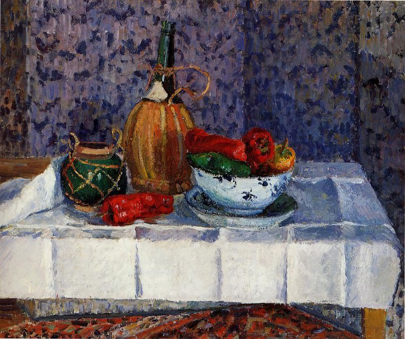Still Life with Spanish Peppers. (1899). Camille Pissarro