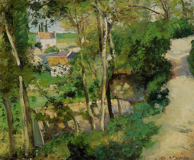 The Rising Path, Pontoise. (1875). Camille Pissarro