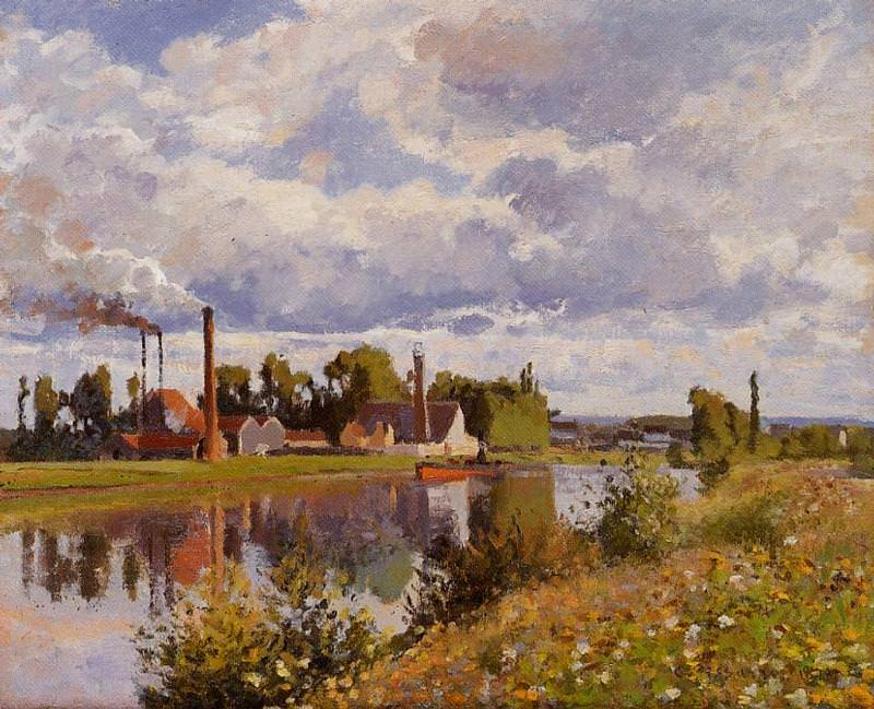 The Oise on the Outskirts of Pontoise. (1873). Camille Pissarro