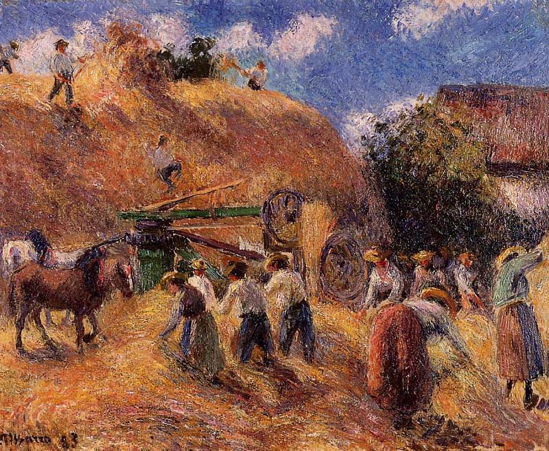 Harvest. (1883). Camille Pissarro
