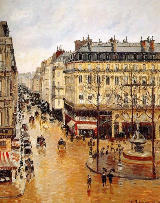 Rue Saint-Honore. Camille Pissarro