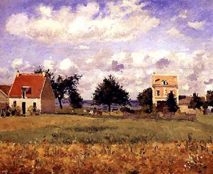 The Red House. (1873). Camille Pissarro