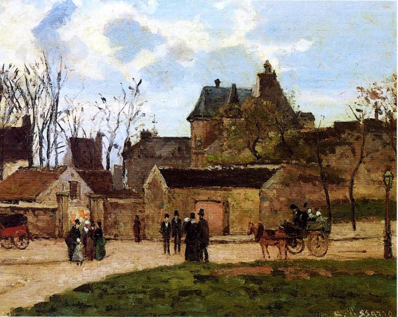 The Court House, Pontoise. (1873). Camille Pissarro
