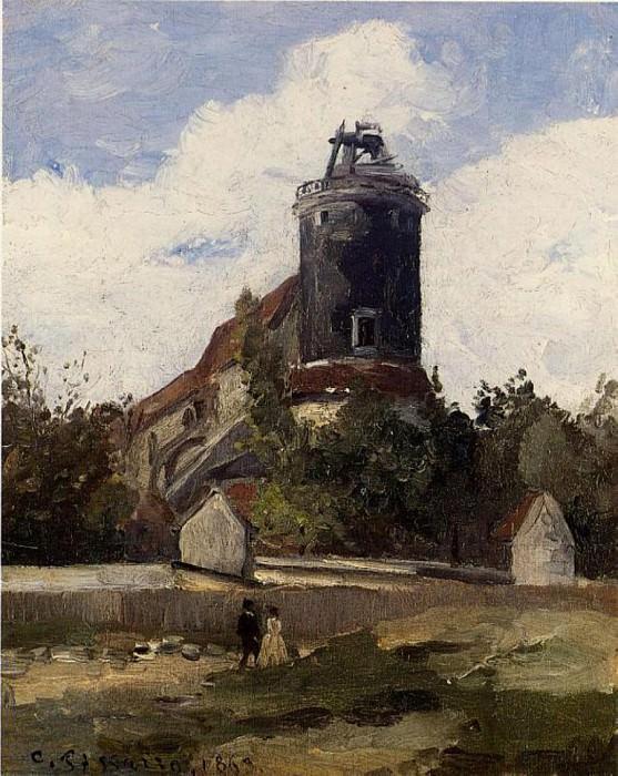 Телеграфная башня на Монмартре (1863). Камиль Писсарро