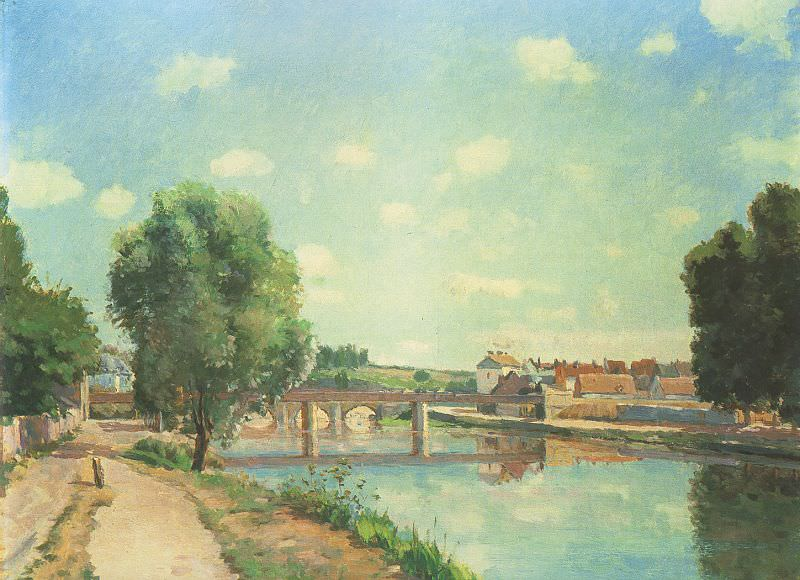 Pissarro The Railway Bridge at Pontoise, 1873, private colle. Camille Pissarro