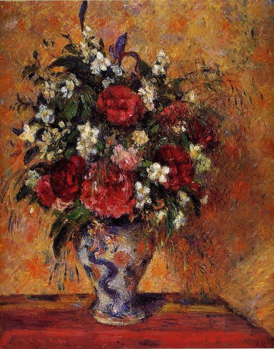 Vase of Flowers. (1877-78). Camille Pissarro