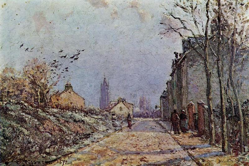 Street - Snow Effect. (1872). Camille Pissarro