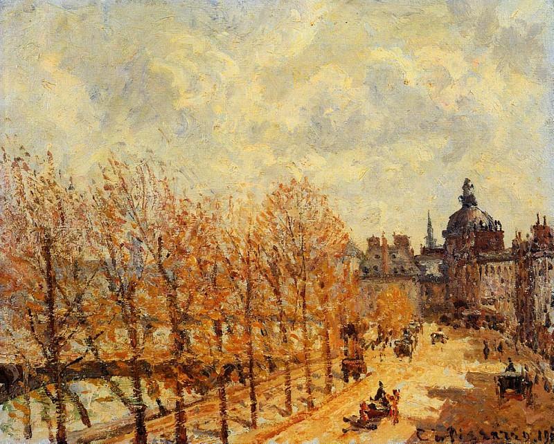 Quai Malaquais, Morning, Sunny Weather. (1903). Camille Pissarro
