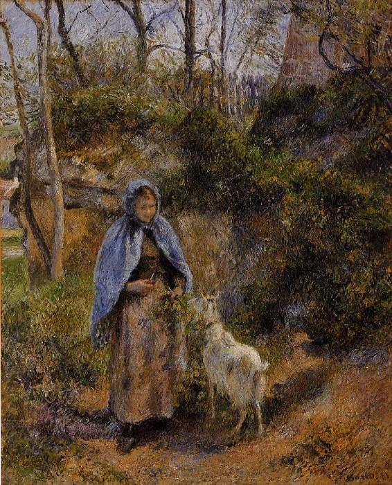 Крестьянка с козой (1881). Камиль Писсарро