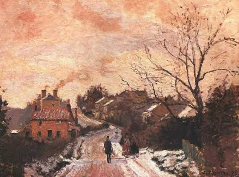 Lower Norwood under Snow. (1871). Camille Pissarro