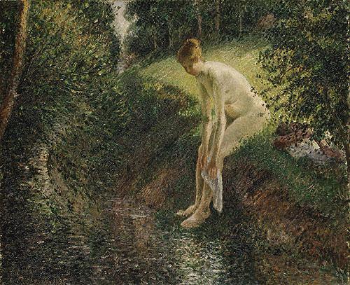 Pissarro Bather in the Woods 1895. Camille Pissarro
