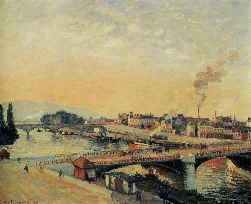 Восход солнца в Руане (1898). Камиль Писсарро