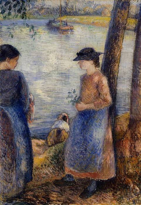 By the Water. (1881). Camille Pissarro
