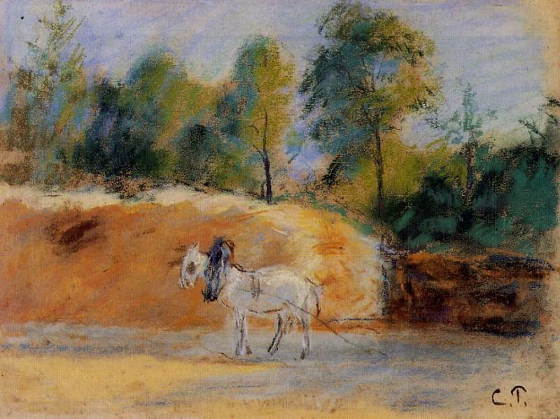 Этюд для картины -Батарея в Монфуко- (1874-75). Камиль Писсарро