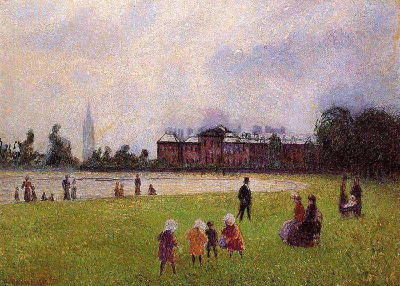 Kensington Gardens, London. (1890). Camille Pissarro