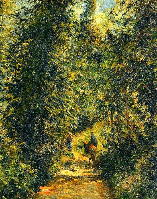 Path under the Trees, Summer. (1877). Camille Pissarro