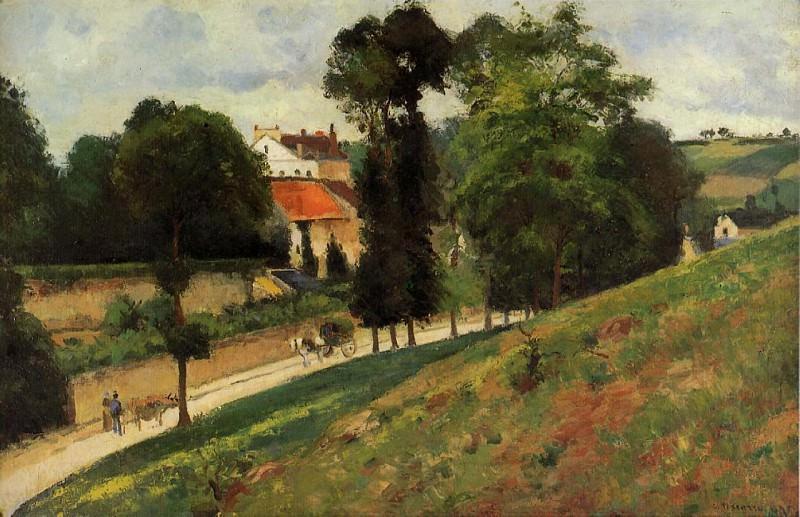 The Saint-Antoine Road at lHermitage, Pontoise. (1875). Camille Pissarro