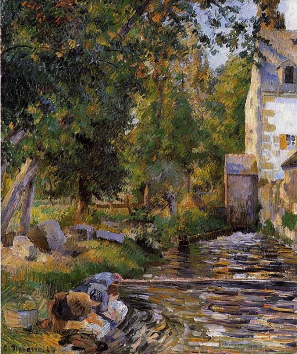 Laundry and Mill at Osny. (1884). Camille Pissarro