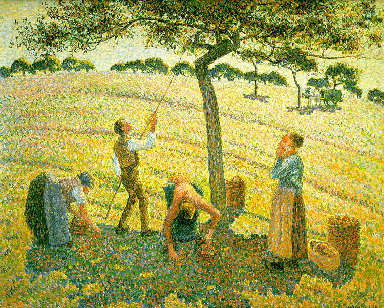 Pissarro Apple Picking at Eragny-sur-Epte, 1888, Dallas Muse. Camille Pissarro