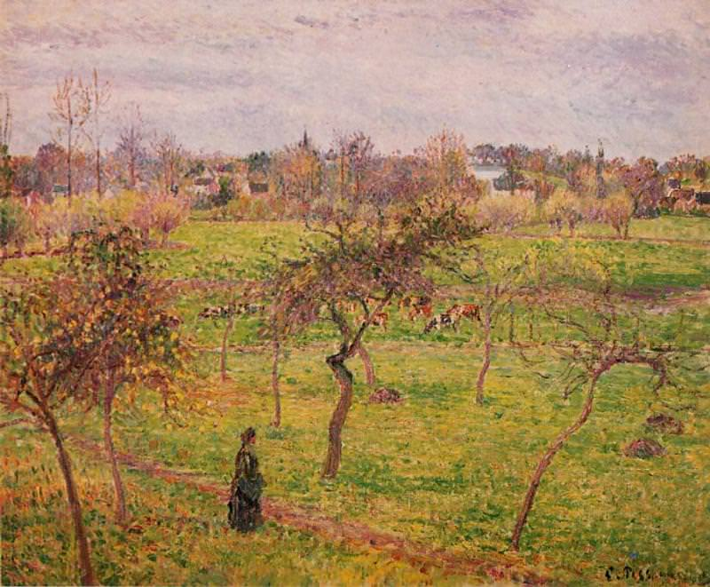 Meadow at Eragny. (1894). Camille Pissarro