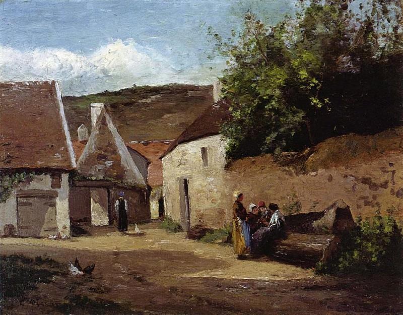 Village Corner. (1863). Camille Pissarro